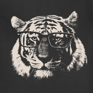 Hipster Tiger With Glasses T-Shirts - Adjustable Apron