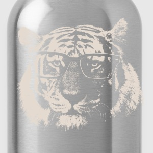 Hipster Tiger With Glasses T-Shirts - Water Bottle