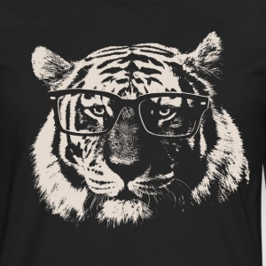 Hipster Tiger With Glasses T-Shirts - Men's Premium Long Sleeve T-Shirt