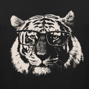 Hipster Tiger With Glasses T-Shirts - Men's Premium Tank