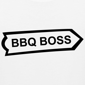 BBQ, Barbecue, cook, chef, meat, Boss, sausage T-Shirts - Men's Premium Tank