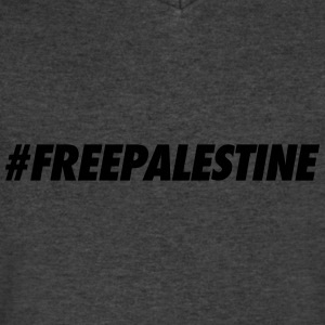 #FREEPALESTINE Tanks - Men's V-Neck T-Shirt by Canvas