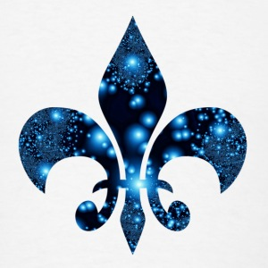 Fleur de Lis blue symbol Caps - Men's T-Shirt