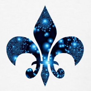 Fleur de Lis blue symbol Tanks - Men's T-Shirt