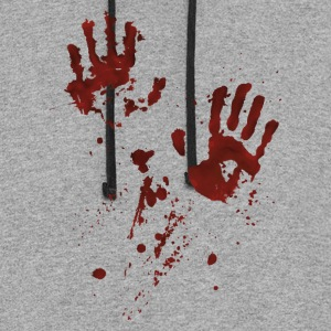 bloody hands Long Sleeve Shirts - Colorblock Hoodie