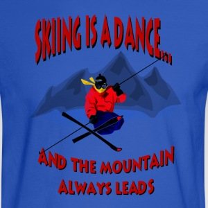 Skiing Is A Dance Hoodies - Men's Long Sleeve T-Shirt