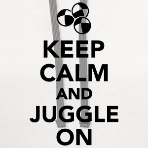 Keep calm and juggle on T-Shirts - Contrast Hoodie
