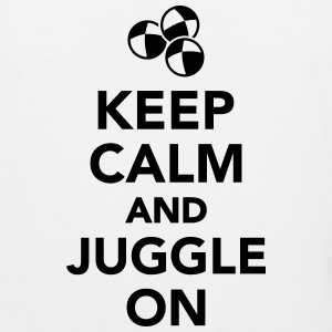 Keep calm and juggle on T-Shirts - Men's Premium Tank