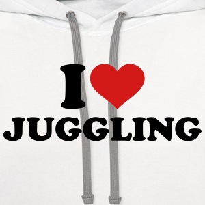 I love Juggling Women's T-Shirts - Contrast Hoodie