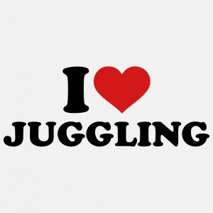 I love Juggling Bottles & Mugs - Men's Premium T-Shirt