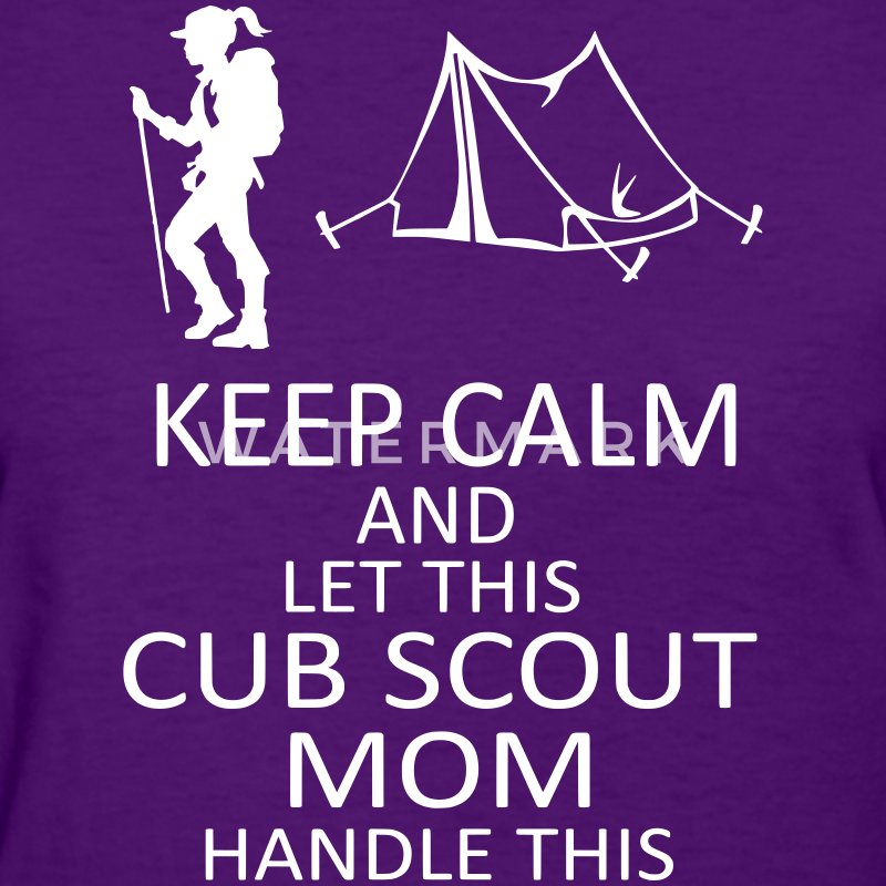 Purple Cub Scout Mom T Shirt - Women's T-Shirt