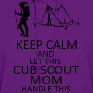 Purple Cub Scout Mom T Shirt - Women's Hoodie