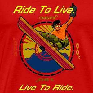 Ride To Live Caps - Men's Premium T-Shirt