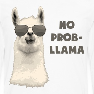 No Problem Llama T-Shirts - Men's Premium Long Sleeve T-Shirt