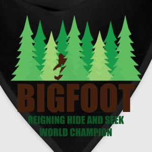 Bigfoot Sasquatch Hide and Seek World Champion T-Shirts - Bandana