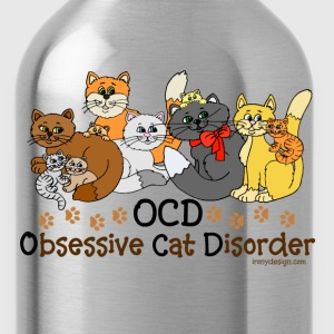 OCD Obsessive Cat Disorder - Water Bottle