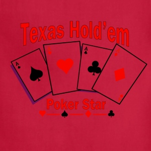 Texas Hold'em Poker Star T-Shirts - Adjustable Apron