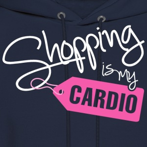 SHOPPING IS MY CARDIO - Men's Hoodie
