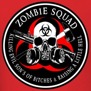 Biohazard Zombie Squad 3 Ring Patch outlined 2 Hoodies - Men's T-Shirt