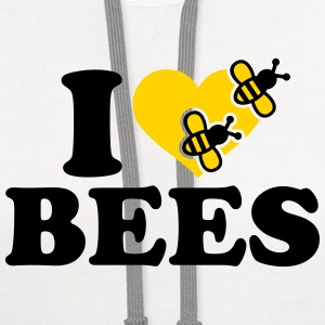 I love Bees T-Shirts - Contrast Hoodie