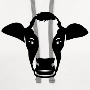 Cow Women's T-Shirts - Contrast Hoodie