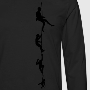 Evolution Climbing Rope Shirt - Men's Premium Long Sleeve T-Shirt
