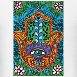 Hamsa button - Men's T-Shirt