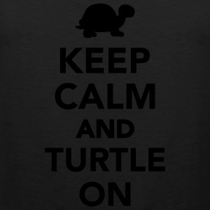 Keep calm and turtle on Women's T-Shirts - Men's Premium Tank