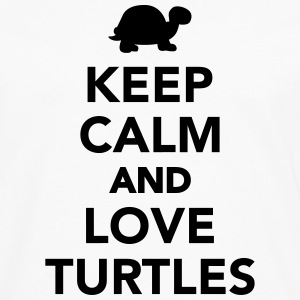 Keep calm and love Turtles Women's T-Shirts - Men's Premium Long Sleeve T-Shirt