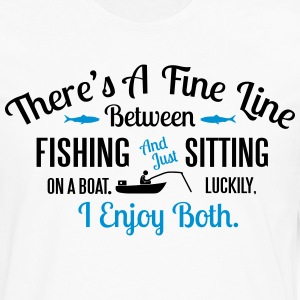 Fishing or sitting on a boat? I enjoy both T-Shirts - Men's Premium Long Sleeve T-Shirt