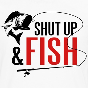 Shut up and fish T-Shirts - Men's Premium Long Sleeve T-Shirt
