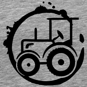 A tractor Graffiti Long Sleeve Shirts - Men's Premium T-Shirt