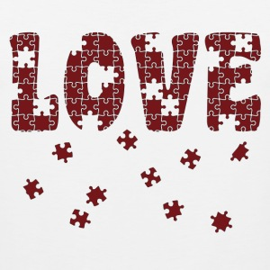 The Puzzle of Love Women's T-Shirts - Men's Premium Tank