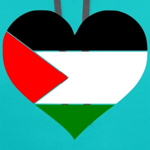 Palestine Heart T-Shirts - Contrast Hoodie