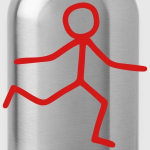 Stick Figure - happy Men - Water Bottle