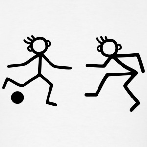 Stick Figure soccer - duel Men - Men's T-Shirt