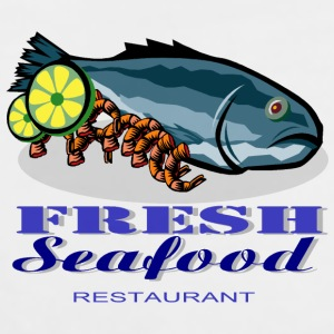 Seafood Restaurant Bottles & Mugs - Men's Premium Tank