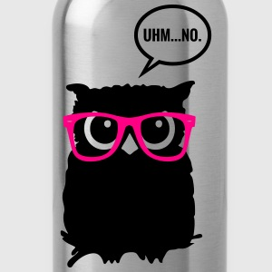 Hipster Owl with Glasses Tanks - Water Bottle