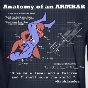 Anatomy of an Armbar 2 Hoodies - Men's Long Sleeve T-Shirt
