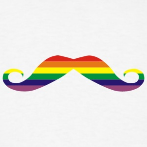 Rainbow moustache Men - Men's T-Shirt