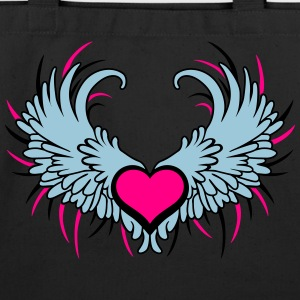 Angel Wings with Heart Tanks - Eco-Friendly Cotton Tote