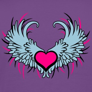 Angel Wings with Heart Tanks - Men's Premium T-Shirt
