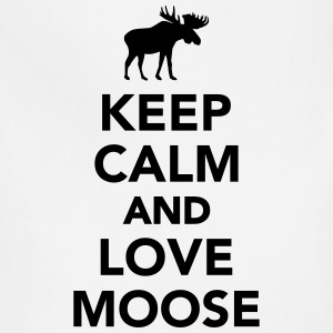 Keep calm and love Moose T-Shirts - Adjustable Apron