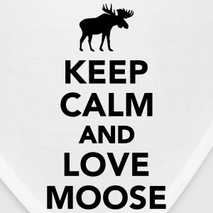 Keep calm and love Moose T-Shirts - Bandana