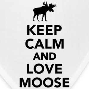 Keep calm and love Moose Women's T-Shirts - Bandana