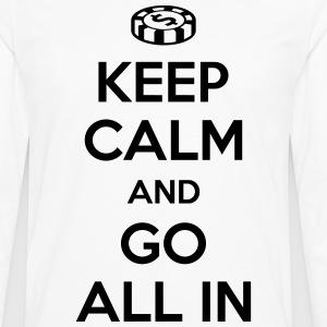 Poker: Keep calm and go all in T-Shirts - Men's Premium Long Sleeve T-Shirt