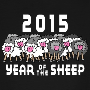 Chinese New Year of The Sheep Ram Goat 2015 - Men's Tall T-Shirt