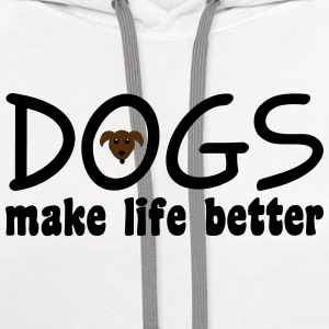 Dogs Women's T-Shirts - Contrast Hoodie