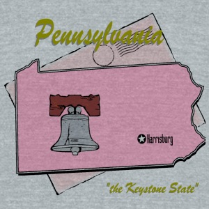 Pennsylvania Bottles & Mugs - Unisex Tri-Blend T-Shirt by American Apparel