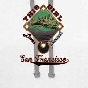 Giants This Girl Loves Diamonds San Francisco  - Contrast Hoodie